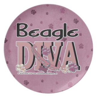 Beagle DIVA Party Plate