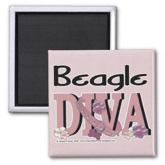 Beagle DIVA Square Magnet