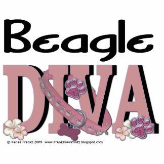 Beagle DIVA Standing Photo Sculpture