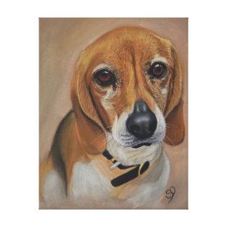 Beagle dog artwork pet portrait canvas print