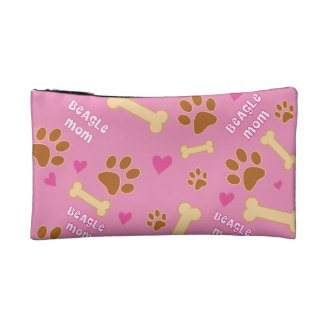 Beagle Dog Breed Mom Gift Idea Makeup Bag