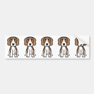 Beagle Dog Cartoon Bumper Sticker