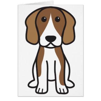 Beagle Dog Cartoon Greeting Card
