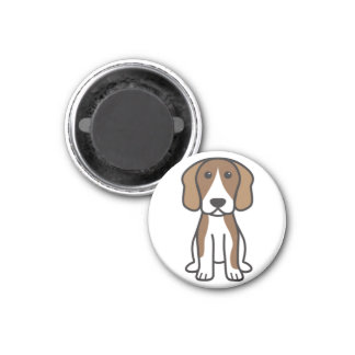 Beagle Dog Cartoon Magnet