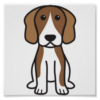 Beagle Dog Cartoon Poster
