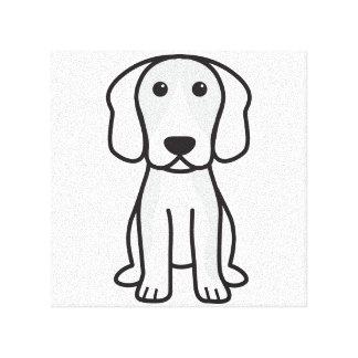 Beagle Dog Cartoon Stretched Canvas Print