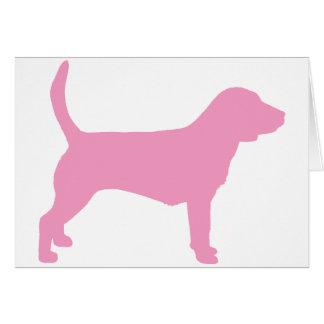 Beagle Dog (in pink) Card