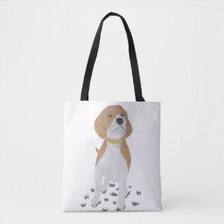 Beagle, Dog, Modern Tote Bag