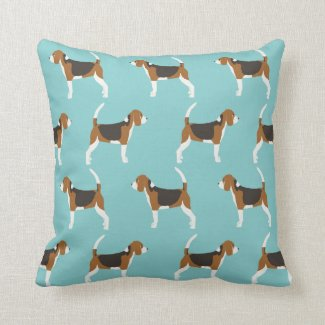 Beagle dog pillow