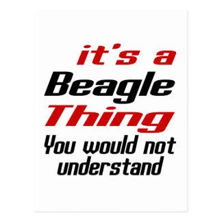 Beagle Dog Thing Designs Postcard