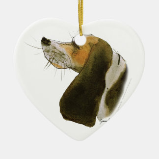 Beagle dog, tony fernandes ceramic heart decoration