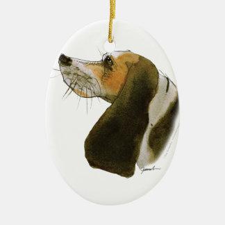Beagle dog, tony fernandes ceramic oval decoration