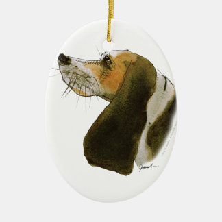Beagle dog, tony fernandes christmas ornament