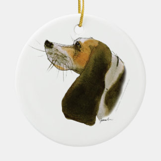 Beagle dog, tony fernandes christmas ornament