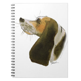 Beagle dog, tony fernandes spiral notebook
