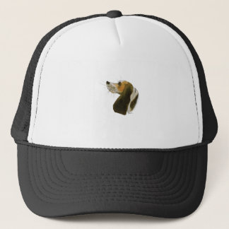 Beagle dog, tony fernandes trucker hat