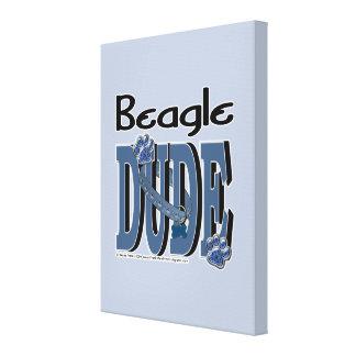 Beagle DUDE Gallery Wrap Canvas