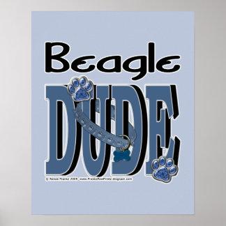 Beagle DUDE Print