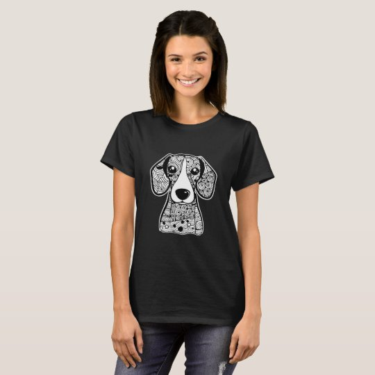 Beagle Face Graphic Art T-Shirt