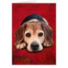 Beagle Fine Art Dog Art Painting Card