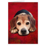 Beagle Fine Art Dog Art Painting Greeting Card