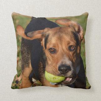 Beagle Flying Ears Houndie Face & Tennis Ball Cushion