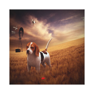 Beagle Gallery Wrapped Canvas