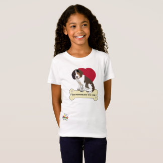 Beagle Girls Tagless T Shirt