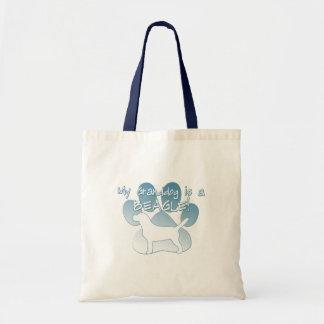 Beagle Granddog Tote Bags
