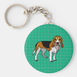 Beagle Green Keychain