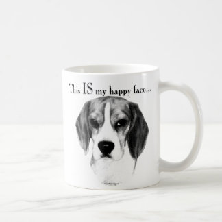 Beagle Happy Face Coffee Mug