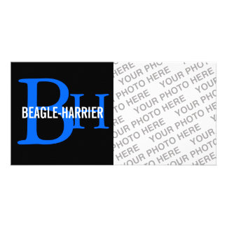 Beagle-Harrier Breed Monogram Personalized Photo Card