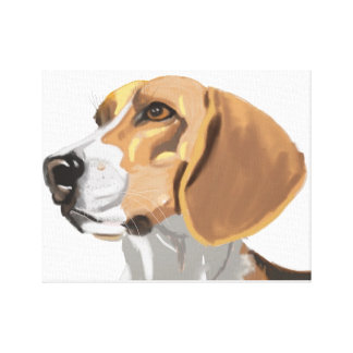 Beagle Head Portrait Canvas Print
