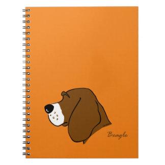 Beagle head silhouette notebooks