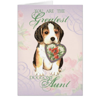 Beagle Heart Aunt Card