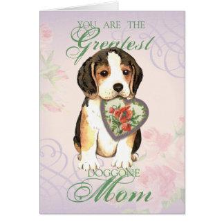 Beagle Heart Mom Greeting Card