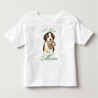 Beagle Heart Mom T Shirt