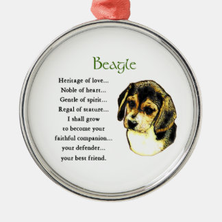 Beagle Heritage of Love Christmas Ornament