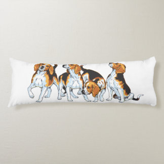 beagle hound body cushion