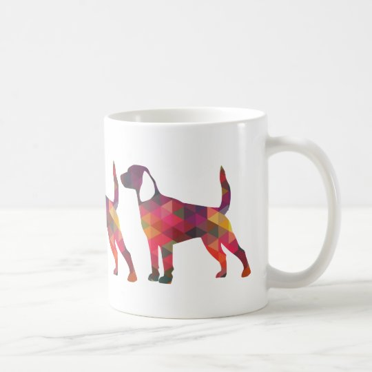Beagle Hound Dog Silhouette Designs Coffee Mug