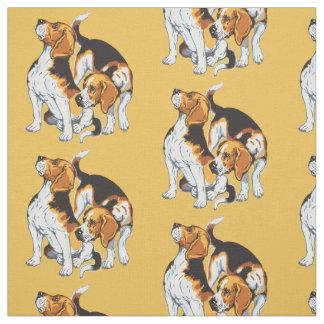 beagle hound fabric