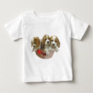 Beagle Hound Pups, I Love Beagles Baby T-Shirt