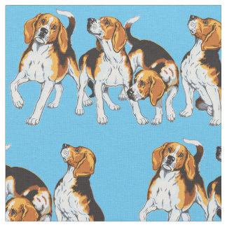 beagle hounds fabric