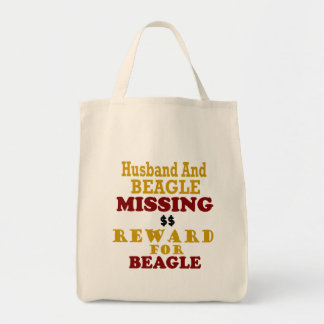 Beagle & Husband Missing Reward For Beagle Tote Bag