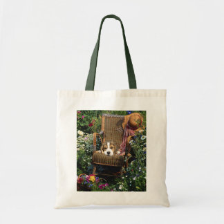 Beagle In Garden Chair Tote Bag