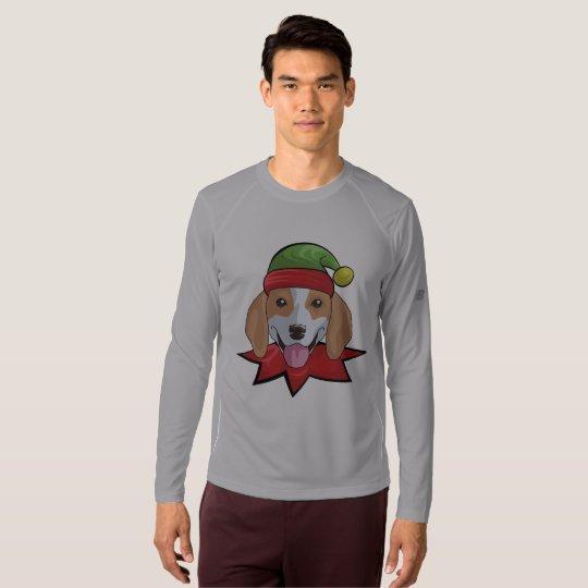 Beagle Long Sleeve Funny Elf Christmas Gift Shirt