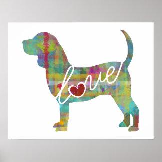 Beagle Love: A Modern Watercolor Print