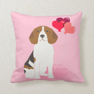 Beagle Love Balloons Pillow - cute dog