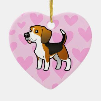 Beagle Love Christmas Ornament