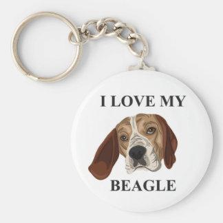 Beagle Love Key Ring